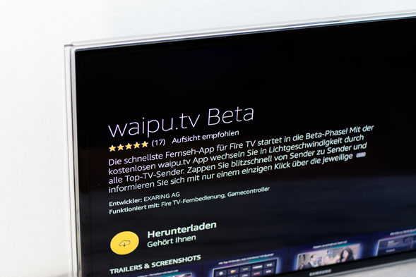 waipu auf den Amazon TV