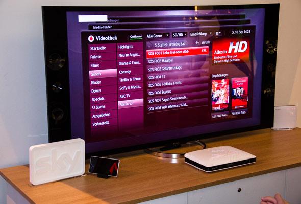 Vodafone TV: Jetzt zusammen mit DSL Zuhause L