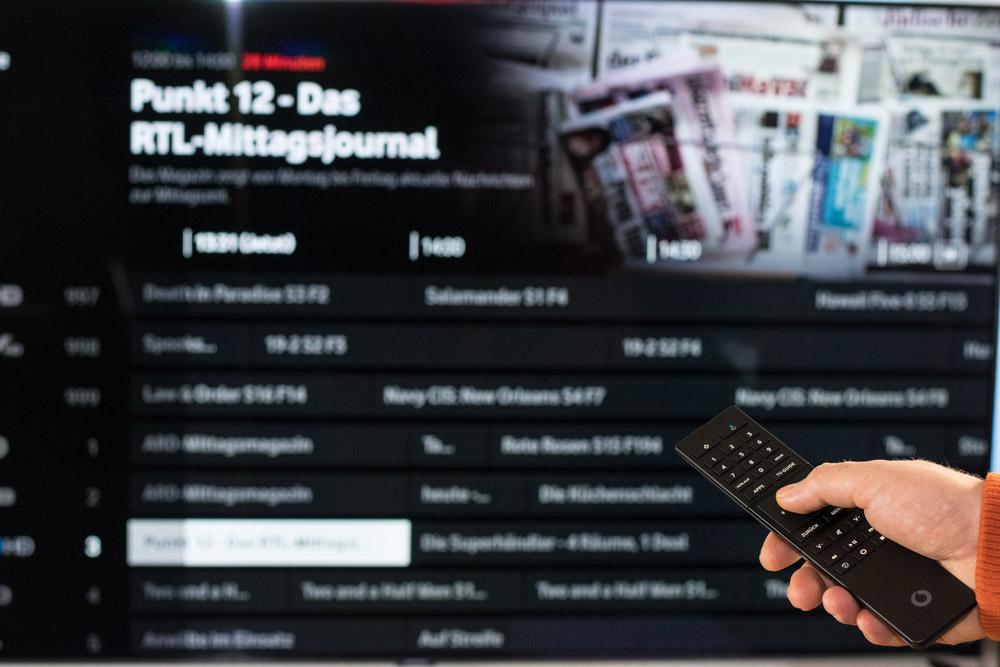 umschalten bei Vodafone IPTV-Angebot